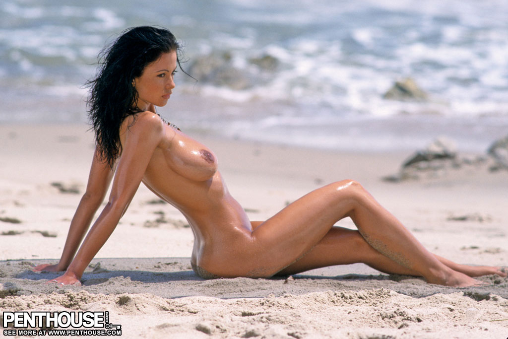 Veronika zemanova on beach