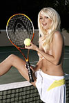 Jana Jordan serves up naked tennis! Gotta love it.