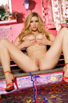 Heather Vandeven goes buck wild and buck naked at Mardi Gras, flashing the Big Easy with her big DDs and pink pussy!