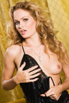 Prinzzess is all charged up after a night of schmoozing and chasing hotties, so she undoes her slinky black cocktail dress to let her latest catch play with her sexy, naked body!