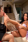 Sienna West never thought itd be her dainty feet that would be a turn-on to some men. But to Johnny Castle who nurses a secret foot fetish, her well-pedicured size 5.5 peds are more of a turn-on for him than her big 34DDs or her hot pink pussy!