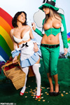 Amy Ried & Lana Lopez in Little Green Riding Leprechaun