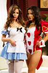 Adrianna Luna and Yurizan Beltran like a little role playing with their hot girl on girl action as they decide who is the real queen of hearts.                                                     Click to See More Penthouse Pics of Adrianna Luna & Yurizan Beltran