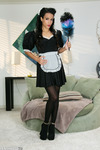 Layla Sin is in her French maid outfit ready to clean up.                                                     Click to See More Penthouse Pics of Layla Sin